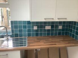 Turquoise blue 10x10cm tiles