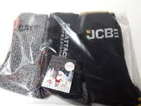 Three pack work socks Cat,JCB,Regatta size 6-11
