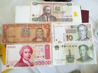 5 Nice World Banknotes in Collectible Condition ideal addition to any collection