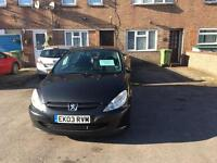 Peugeot 307 Black Car - 1.6 Petrol