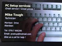 Computer repairs and setup services, good rates !