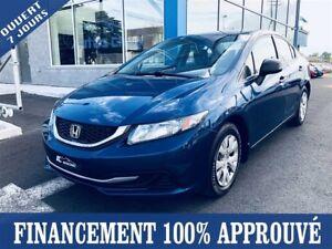 2013 Honda Civic DX **35$/SEM*FINANCEMENT 100% APPROUVÉ**