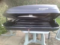 HALFORDS EXODUS ROOF BOX, HUGE 470LITRE Capacity!!, used once, BARGAIN SAVE £100 from new price!!!
