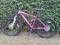 Carrera Sol 24 Pink Mountain Bike. Full Suspention, Disc Brakes, Very Good Condition