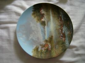"""Collectable plate """"Daytrip in the Summertime"""" eigth inseries """"Luckels Idyllic Village Life"""" 1987"""
