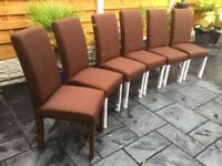 Six Brand New, Willis & Gambia Dining Chairs.