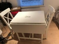 Extendable Dining Table and 2 Chairs