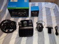 *Mint Condition* Logitech G920 Steering wheel & Pedals w/ Driving Force Shifter