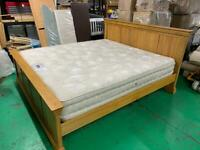 Super King Size solid wooden bed & mattress