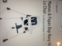 Mamas & Papas Teal Hi-Lo chair