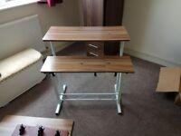 2 adjustable desks