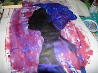 Head wrap Acrylic Painting