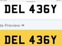 DEL 436Y number plate