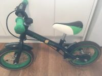 Balance Bike - Black/Green