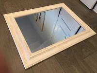 Washed wooden mirror 88x68cm