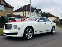 Bentley Mulsanne 2017 Plate £195 One way Wedding Car Hire | Prom Car Hire