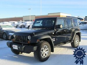 2011 Jeep Wrangler Unlimited Sport 4x4 - 61,111 KMs, 3.8L V6 Gas