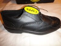 Safety Shoes Black Brogue Office Safety Shoes - Size 11