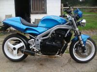 TRIUMPH SPEED TRIPLE 955i 2001/51 VGC ONLY 26,000 MILES