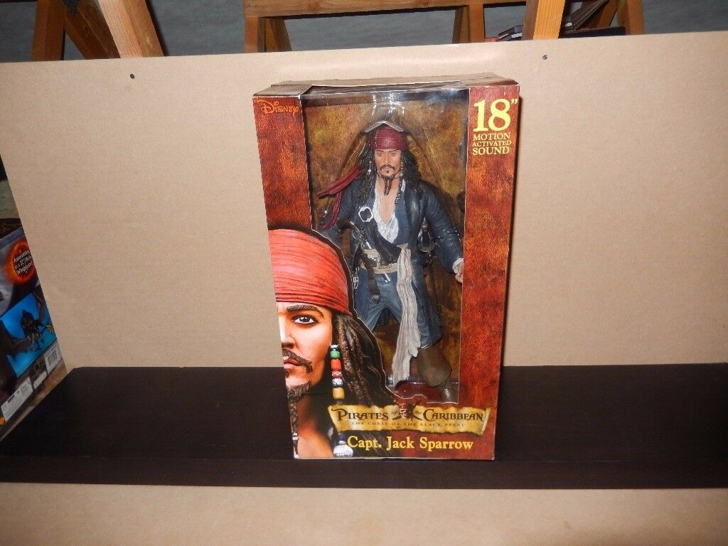 RARE Boxed Pirates of the Caribbean 18 inch Captain Jack Sparrow collectable FIGURE
