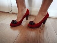 Red shoes size 6. Brand new