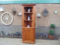 SOLID PINE FARMHOUSE CORNER CABINET VERY HEAVY UNIT CAN BE SPLIT IN 2 PARTS IN EXCELLENT CONDITION
