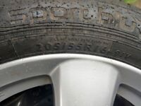 2 honda civic tyres 16.5 inch