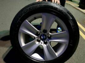 GENUINE BMW 5 SERIES F10.E60 ALLOY WHEELS 5X120 .225/55/17.GOOD YEAR
