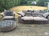 Goodbye condition sofa set black / grey