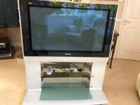 PANASONIC TV ON MATCHING STAND, WITH DVD RECORDER - FANTASTIC CONDITION & PERFECT WORKING ORDER