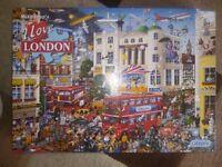 I Love London 1000 piece Jigsaw puzzle