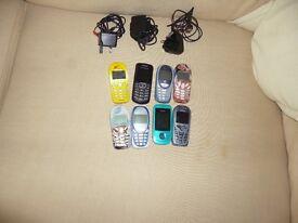 8 vintage mobile phones