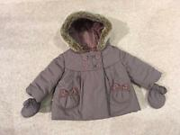 M and S 3-6 month coat