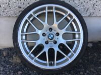 19INCH 5/120 BMW CSL ALLOY WHEELS WITH WIDER REARS & TYRES FIT MOST MODELS