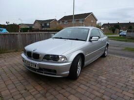 BMW 320ci, Coupe 2.2, 52reg, MOT, FSH, Only 93000 miles.