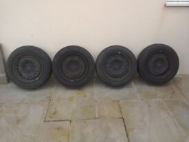 "4x15"" steel wheels with Continental tyres"