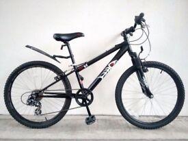 "(2699) 24"" 12"" HOOD V4 BOYS GIRLS CHILD MOUNTAIN HARDTAIL BIKE BICYCLE Age: 8-10, Height: 127-142 cm"
