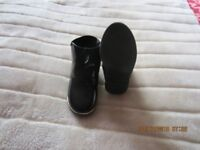 infants size 7 patent leather boots black hardly worn like new grown out of them.