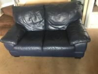 2&3 seater leather settees,good condition