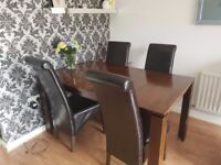 Dinning Table And 6 Chair Real Wood