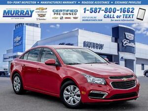 2015 Chevrolet Cruze **Command Start!  Low kms!**