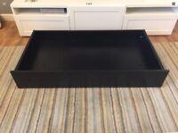 Black Under-bed Drawer/Storage On Wheels,