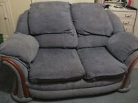 2 Seater Settee Blue very comfy