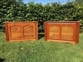 Set of 2 Radiator Covers 4ft Wide Fleur de Lis Design Grilles Magnetic Clip On/Off