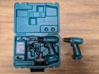MAKITA - 2 Drills,Charger,NEW Battery, Case