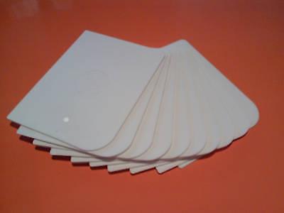(20 x  LARGE PLASTIC BODY FILLER / BONDO / BOG APPLICATORS 100 x 75mm FLEXIBLE)