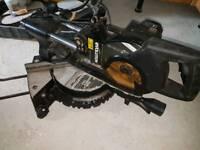 110v evolution compound mitre sliding chop saw