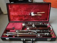 Huller Bassoon with several bassoon music books for sale - £2,250