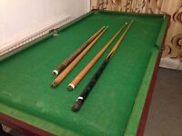 Snooker or Pool Table 3ft x 6ft with 4 Cues - The Snooker Table Legs Fold for Easy Storage
