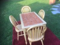 Table & 4 Chairs - Ideal for Kitchen or Dining Room - Summer Bargain!